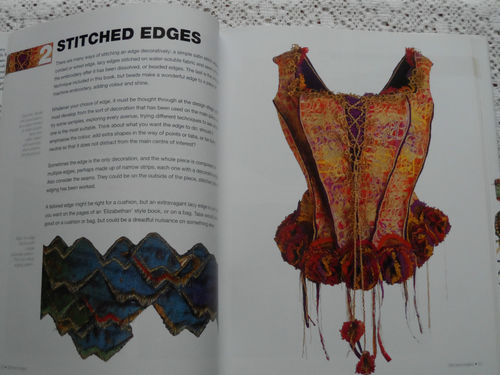 Edges & Finishes in Machine Embroidery – Inside the book