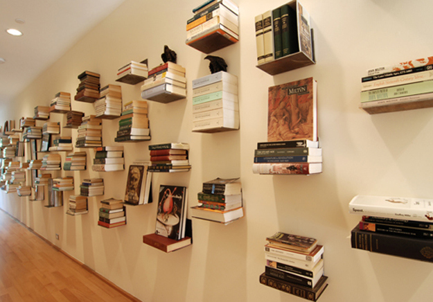 22 incredible bookshelves libraries and bookcase hacks How to make an invisible bookshelf