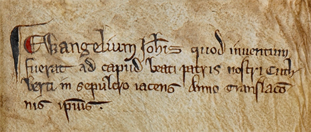 St Cutchbert inscription - British Library