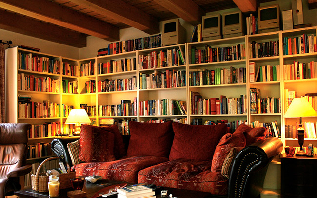 Books in Living Room - Photo By Tom Borowski