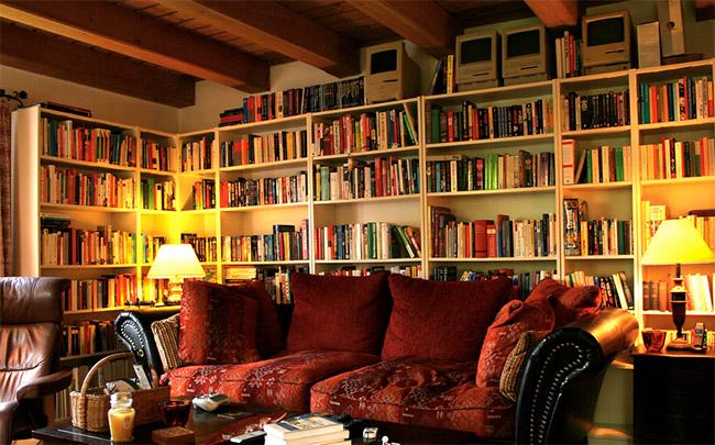 Books in Living Room - Photo By Tom Borowski