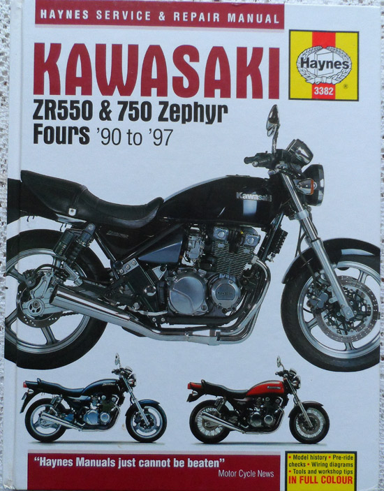 Kawasaki ZR550 & ZR750 Zephyr Fours 1990 to 1997 Haynes Service & Repair Manual