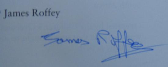 James Roffey Signature