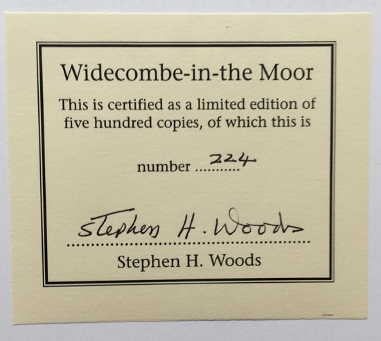 Widecombe in the Moor: A Pictorial History of a Dartmoor Village – Signed Limited Edition