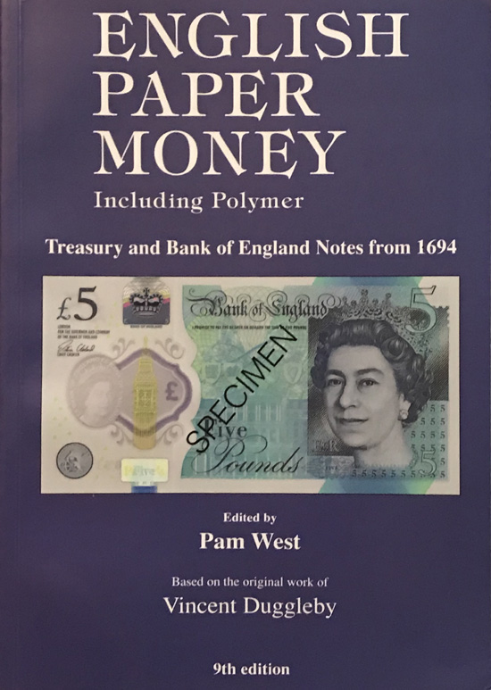 English Paper Money Including Polymer Edited By Pam West