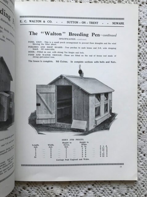 Vintage 1930s Walton's Catalogue - Poultry Houses, Coops, Dog Kennels, etc