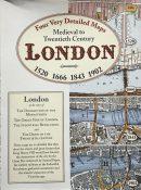 Medieval to Twentieth Century London: Four Very Detailed Maps 1520 to 1902