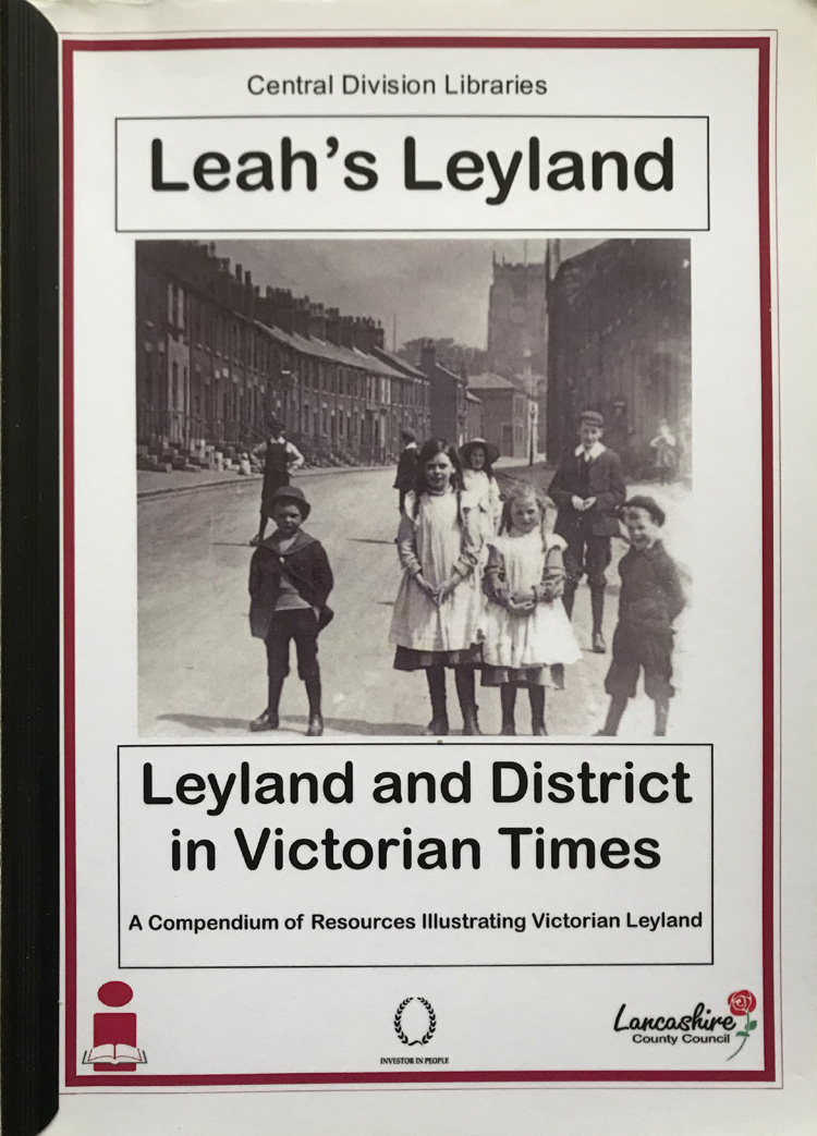 Leah's Leyland: Leyland and District in Victorian Times