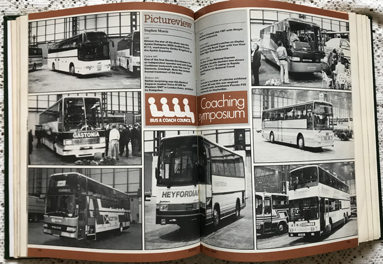 Buses Magazines Jan-Dec 1984 Volume 36 Bound in Green Boards