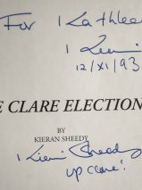 The Clare Elections By Kieran Sheedy – Signed