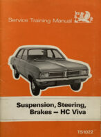 Vauxhall Service Training Manual: Suspension, Steering, Brakes - HC Viva (with Supplement)