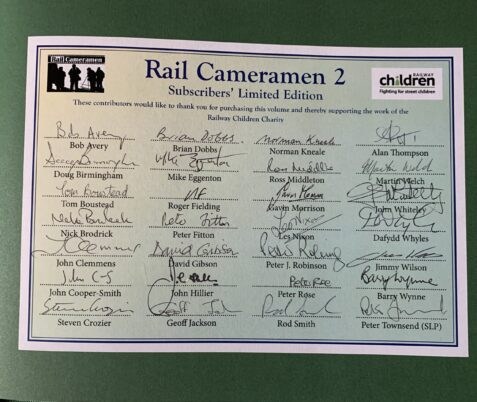 The Photographic Artistry of Rail Cameramen 2 - Signed By 26 Photographers!